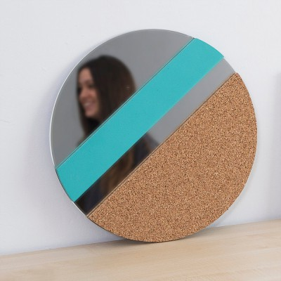 XO Mirror cork and blue