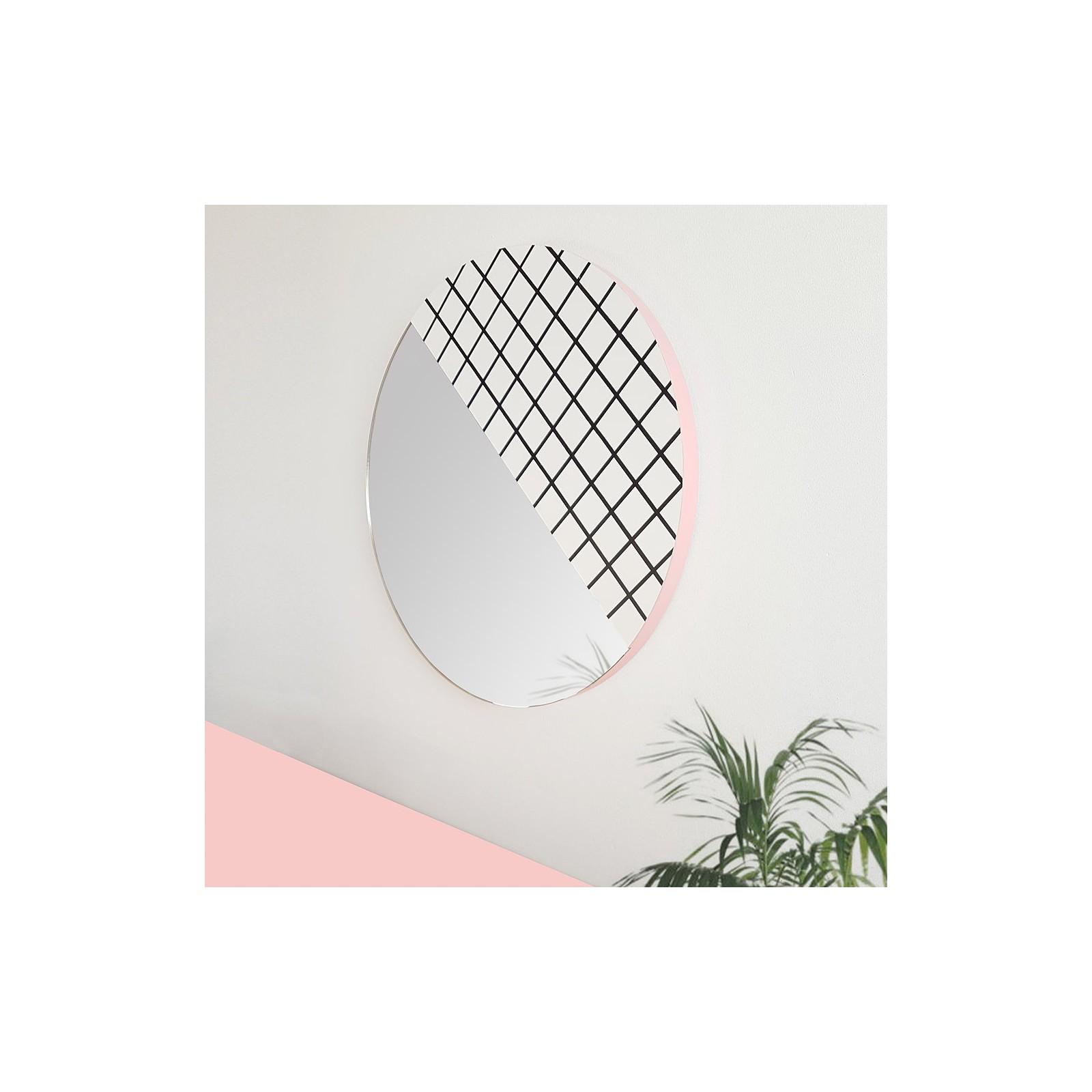 Miroir circulaire graphique noir et blanc arne concept - Miroir noir et blanc ...