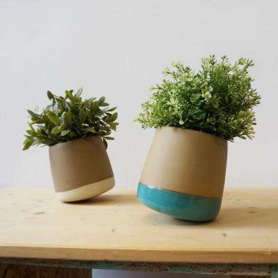 Pot de fleurs twist