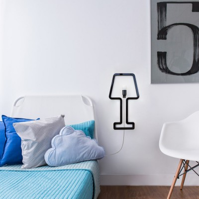 ColoredShape lamp black