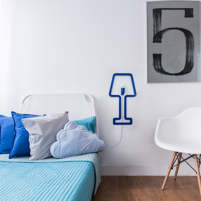 ColoredShape lamp blue