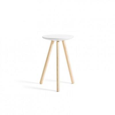 Spa stool marble & natural wood