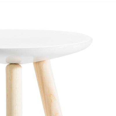 Tabouret marbre et bois naturel