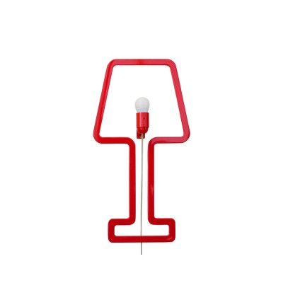 ColoredShape lamp red