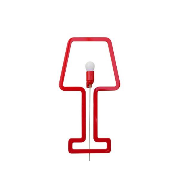 Lampe Minimaliste rouge