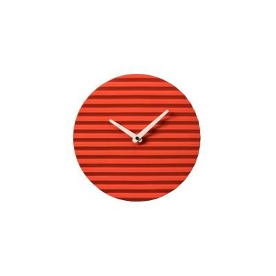 Horloge céramique rouge