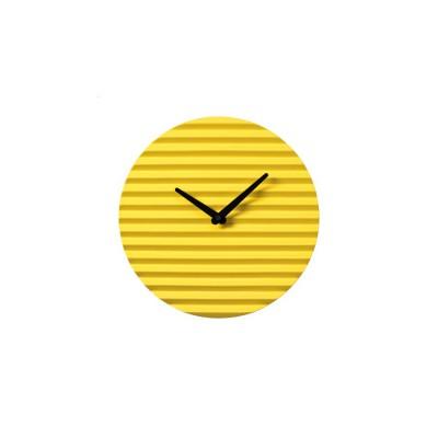 Horloge céramique jaune