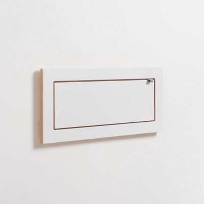 Micro étagère feuille blanche