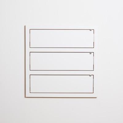 Triple Etagère slim feuille blanche