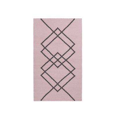 Rug Borg 01 Pink and white