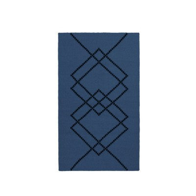 Rug Borg 01 dark blue and black