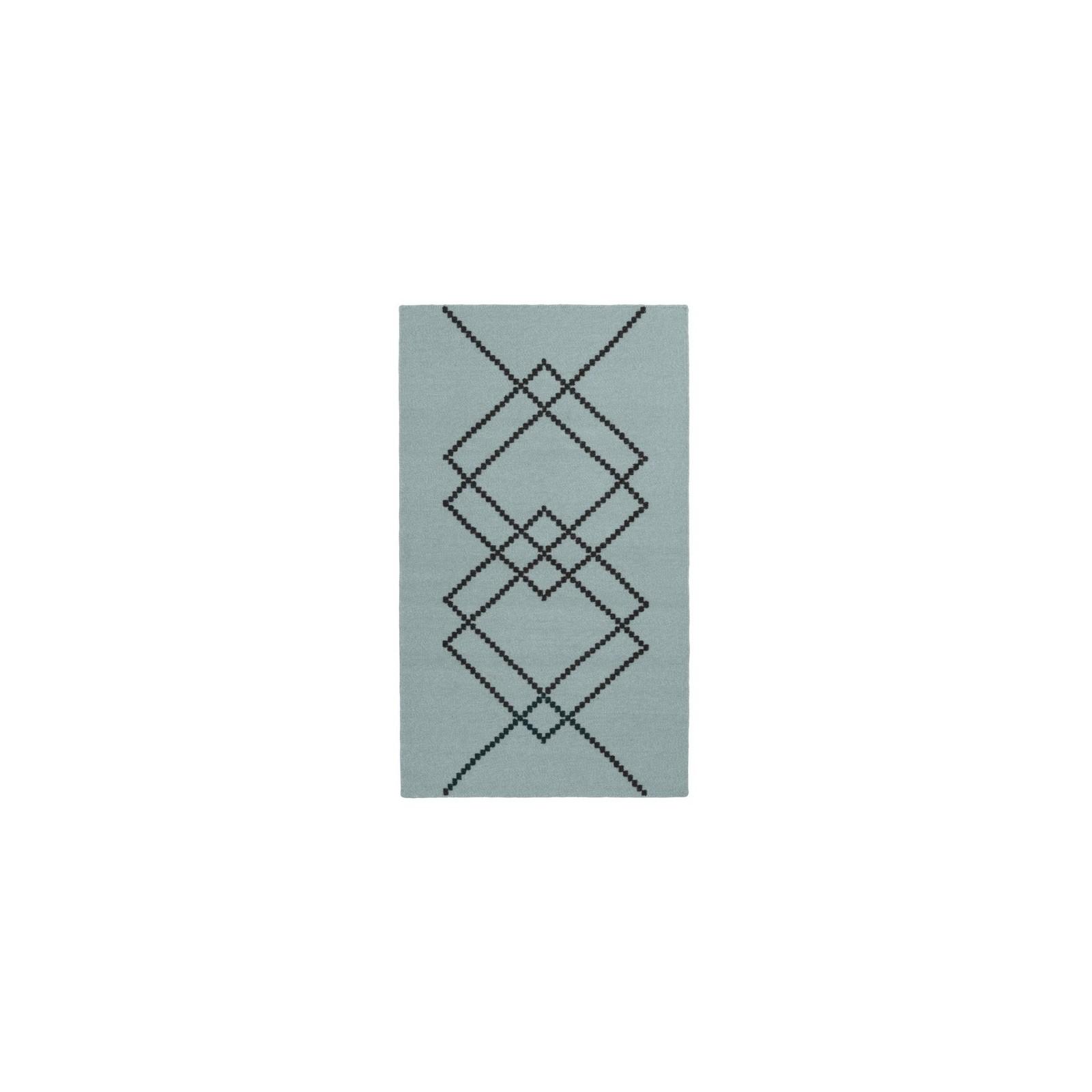 Petit Tapis Borg Vert Vintage Et Noir Arne Concept