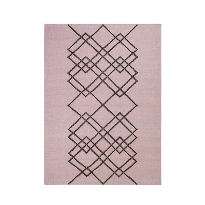 Tapis Borg medium rose et noir