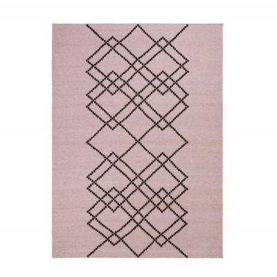 Rug Borg 03 pink and black
