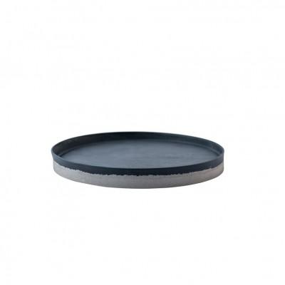 Set de plateaux béton-porcelaine noir