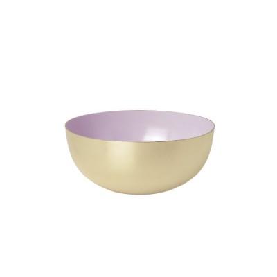 Bowl brass enamel light rose