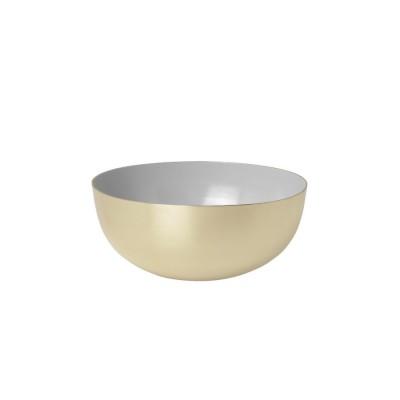 Bowl brass enamel grey
