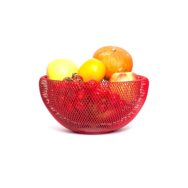 fishnet basket red