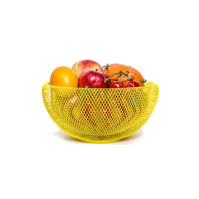 fishnet basket yellow