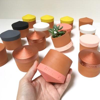Petit Pot Toupie Cuivre