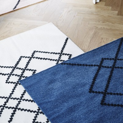Rug Borg 03 ecru and black
