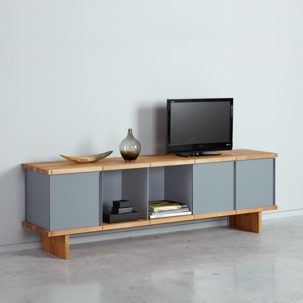 meuble tv design ch ne gris arne concept. Black Bedroom Furniture Sets. Home Design Ideas