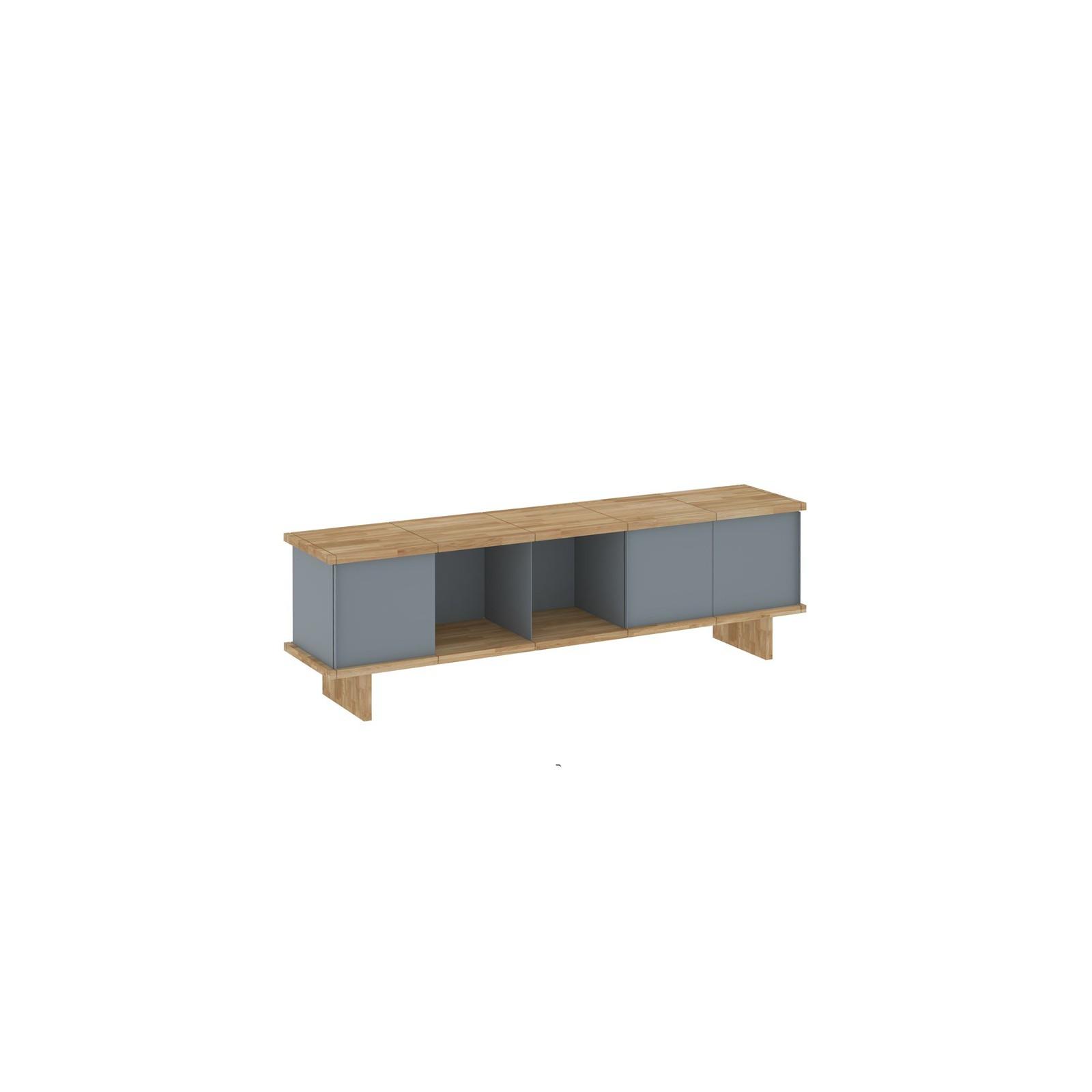 Meuble Tv Design Ch Ne Gris Arne Concept # Meuble Tv Design Bas