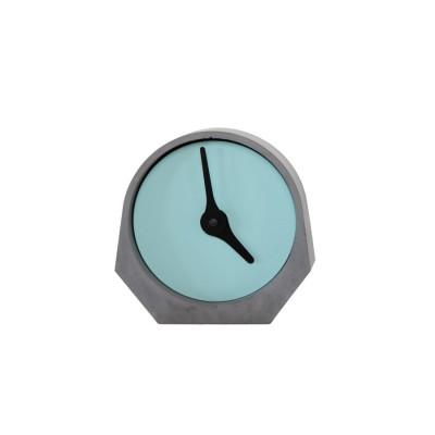 Pendule béton design turquoise