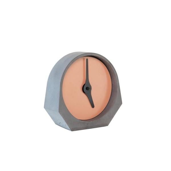 Pendule béton design rouge beige
