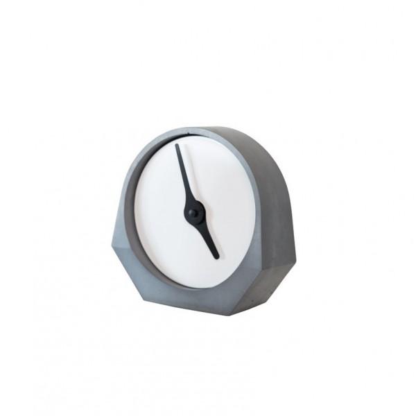 Pendule béton design blanche