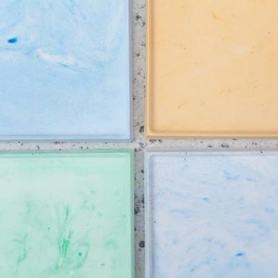 Concrete Tray Blue