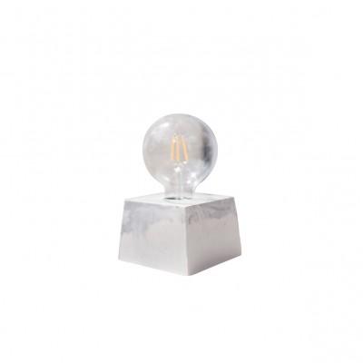Concrete French Lamp White