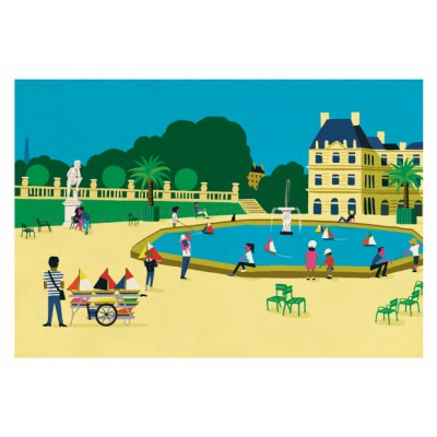 "Affiche ""Jardin du Luxembourg"""
