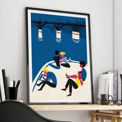 """""""Pont des Arts"""" Print"""
