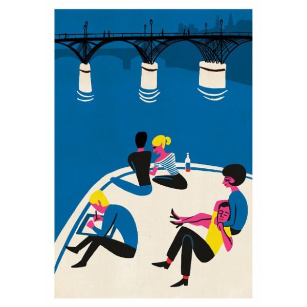 """Affiche """" Pont des Arts """""""