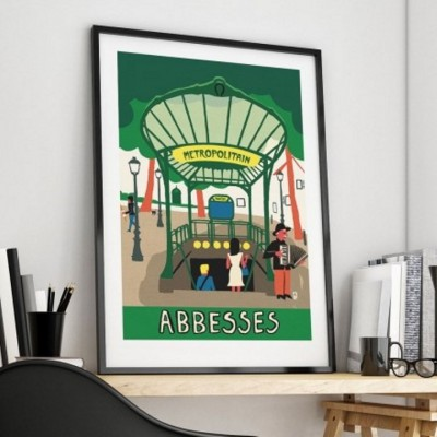 "Affiche "" Abbesses"""