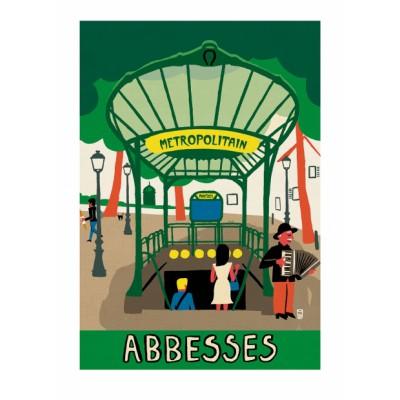 """Abbesses"" Print"