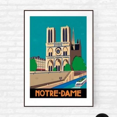 """""""Notre Dame de Paris"""" Print"""