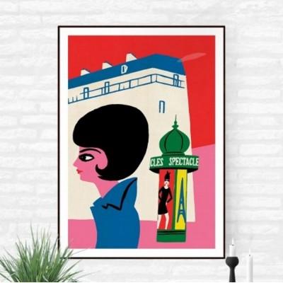 """Affiche """"Parisienne"""""""