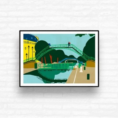 """Canal Saint-Martin"" Print"