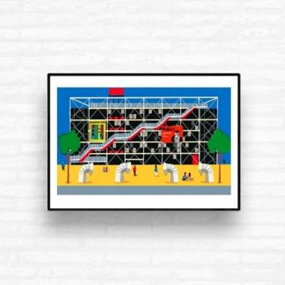 """Affiche """"Centre Pompidou"""""""