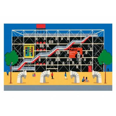 """Centre Pompidou"" Print"