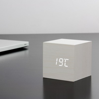 White squared clock