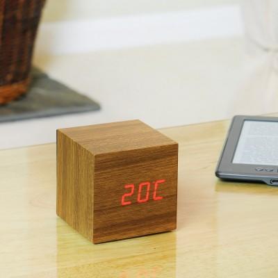 Walnut squared clock