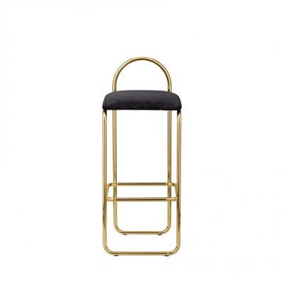 Chaise de bar danoise dorée