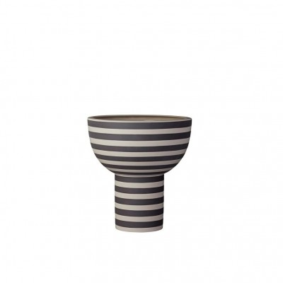 Vase entonnoir noir