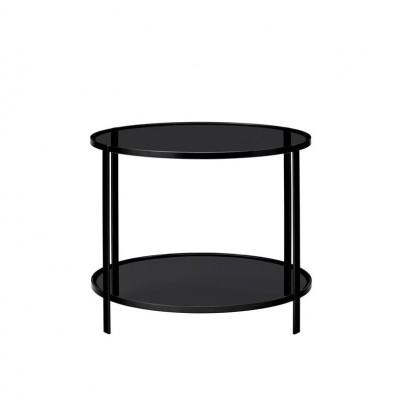 Table double plateaux noire