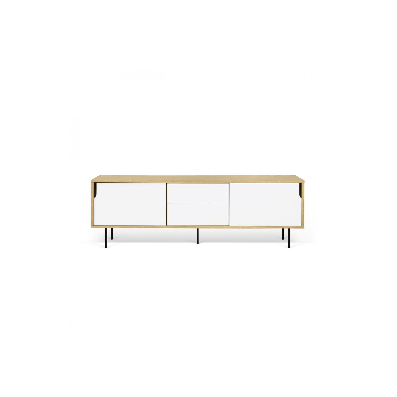 meuble tv danois blanc et bois - Meuble Danois