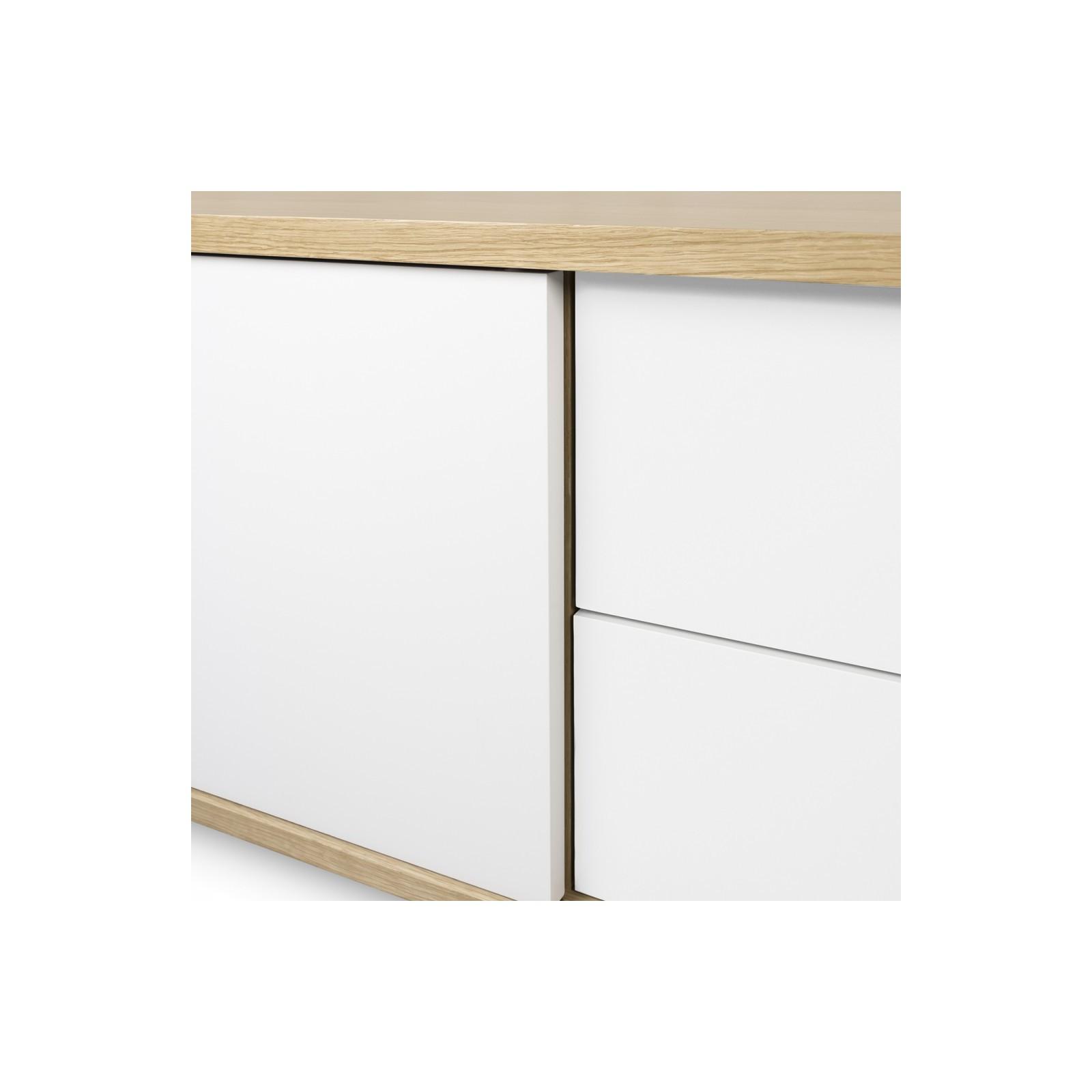 Meuble tv danois blanc et bois arne concept - Meuble bois et blanc ...