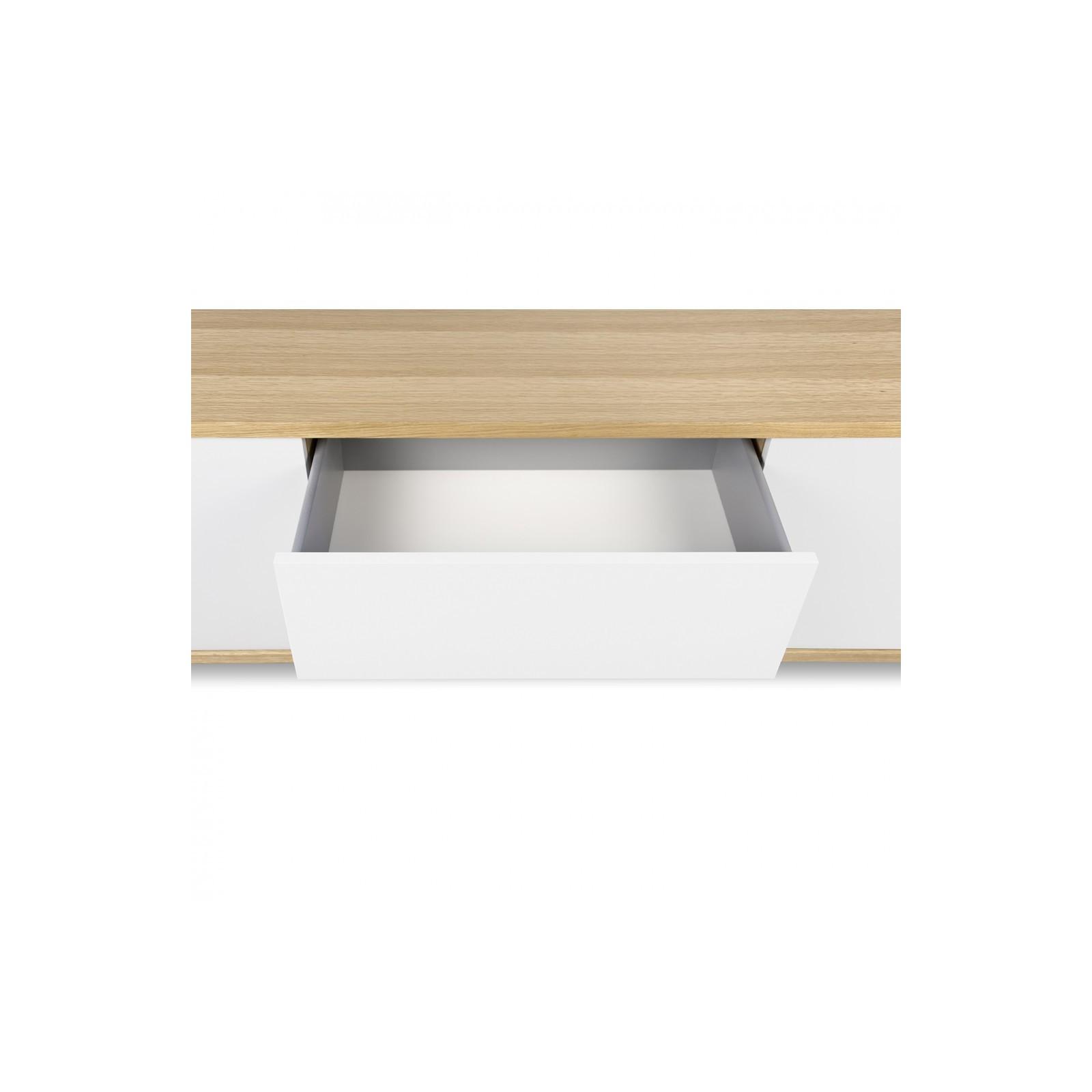 meuble tv danois blanc et bois arne concept. Black Bedroom Furniture Sets. Home Design Ideas